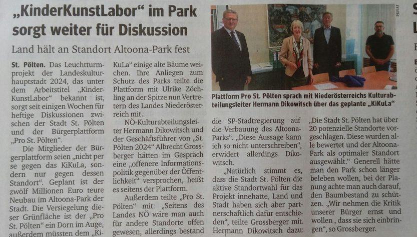 Bürgerplattform Pro St. Pölten in NÖ-Landesregierung